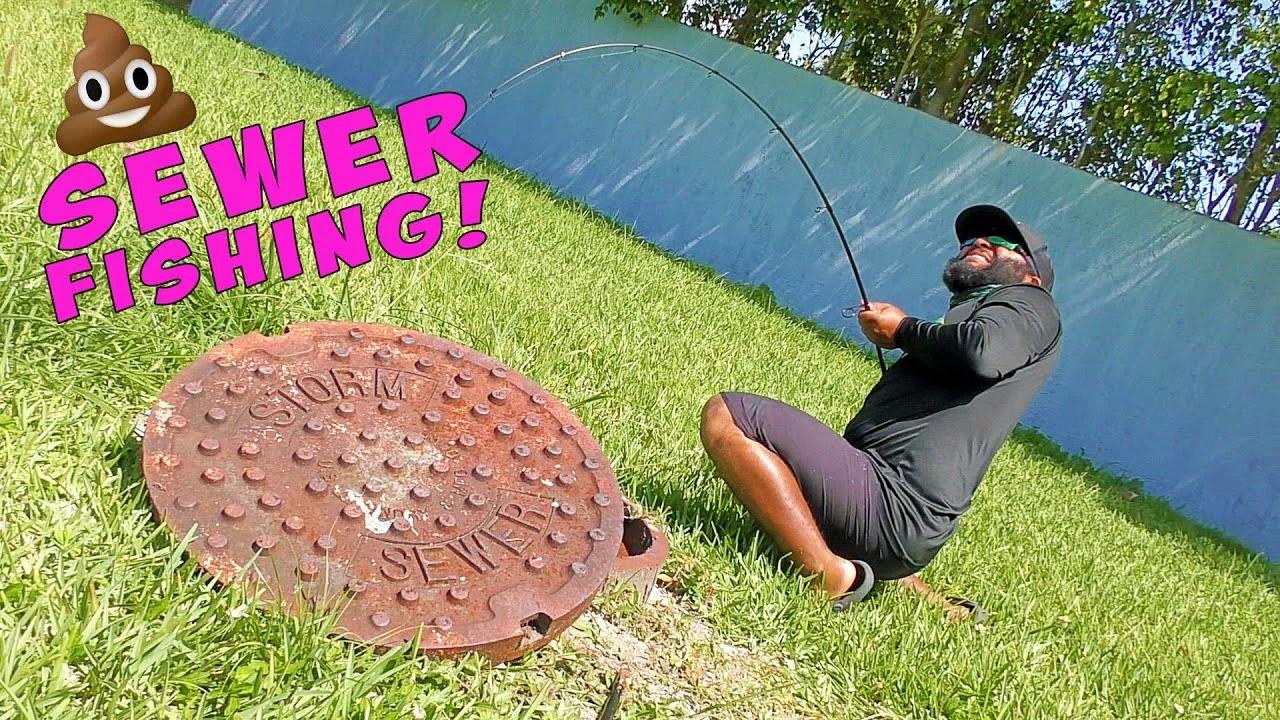 Sewer Fishing in Miami Bass Fishing Challenge