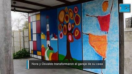 Nora y Osvaldo transformaron el garaje de su casa