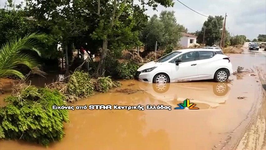 Ψαχνά: Πλημμύρισε το σπίτι του δημάρχου, κινδύνεψαν οι συγγενείς του