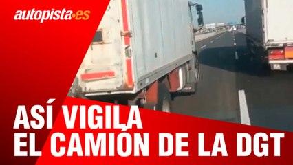 Así vigila el camión de la DGT, persiguiendo incluso a coches