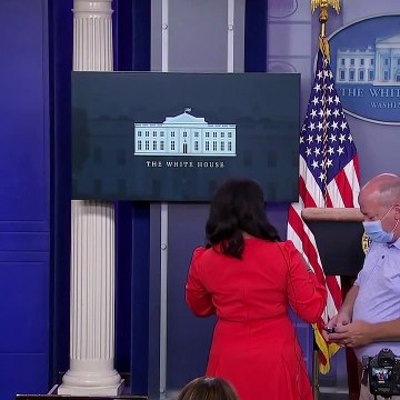 Trump abruptly escorted out of press briefing minutes after taking the podium