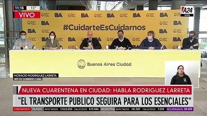 Conferencia de Horacio Rodríguez Larreta sobre la nueva fase