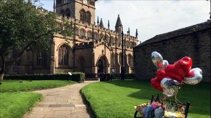 Tributes to Steven McMyler at Wigan Parish Church