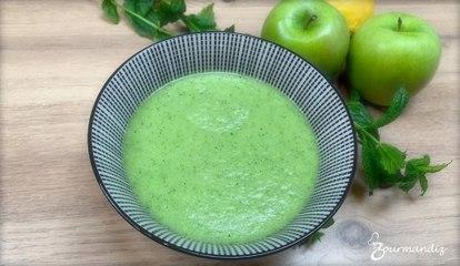 Recette : Gaspacho à la courgette et aux pommes