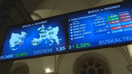 La bolsa española sube un 2,97 % y termina en los 7.263 puntos
