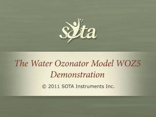 SOTA Water Ozonator - Model WOZ5 - Push Button