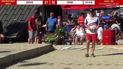 QUINTAIS vs FOURNIE : Vaujany 12 Champions de pétanque s'affrontent en tête-à-tête