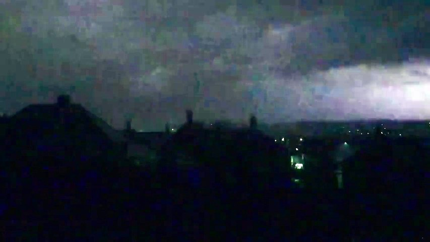 Sheffield struck by lightning in late night thunderstorm
