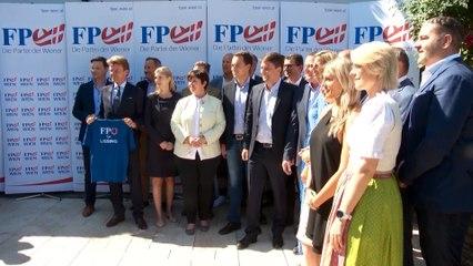 Wien-Wahl: FPÖ präsentiert Kandidatenteam