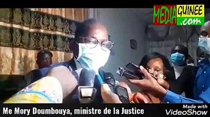 Me Mory Doumbouya, ministre de la Justice promet d'examiner les doléances des détenus
