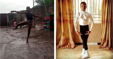 Un jeune garçon du Nigeria performe sur de la danse classique et reçoit une bourse d'une école de New York