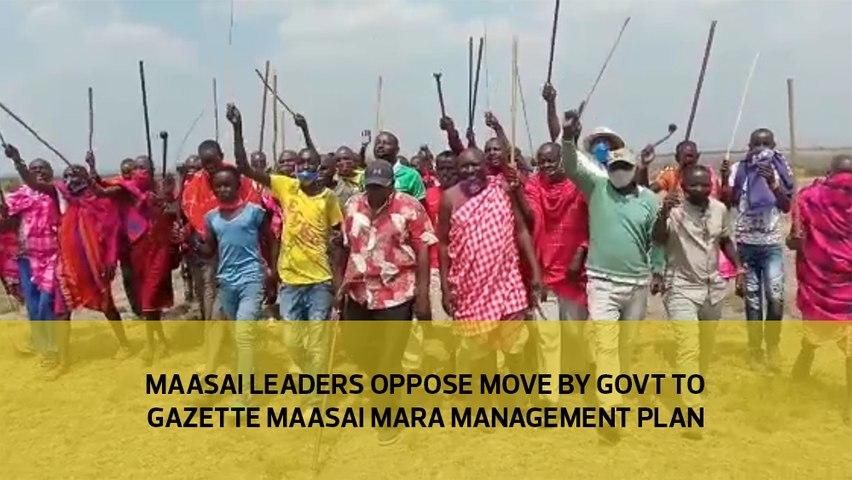 Maasai leaders oppose move by govt to gazette Maasai Mara management plan