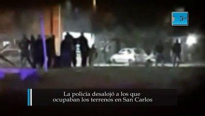 La policía desalojó a los que  ocupaban los terrenos en San Carlos