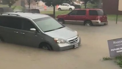 Torrential downpours leave roads underwater