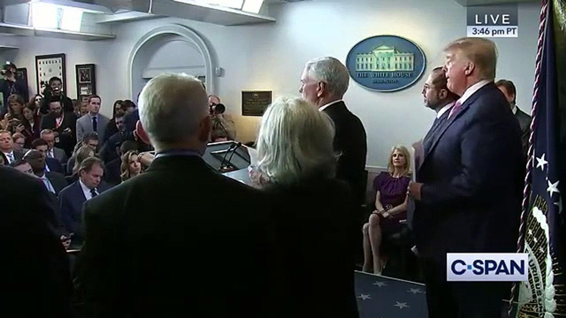 President Trump announces Vice President Mike Pence as Coronavirus Point Person