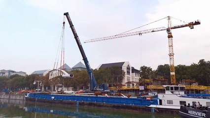L'AVENIR - Les structures du pont Suzan Daniel arrivent via le canal