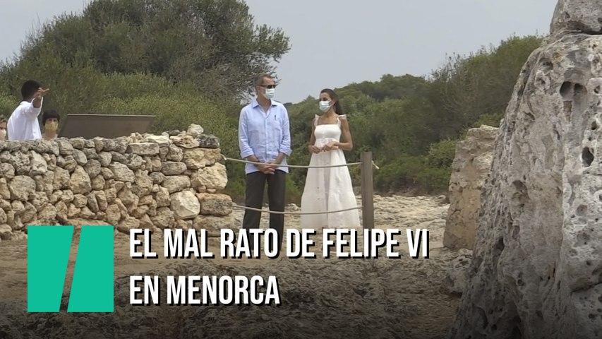 El mal rato de Felipe VI en esta visita a Menorca