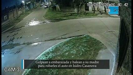 Golpean a embarazada y balean a su madre para robarles el auto en Isidro Casanova.