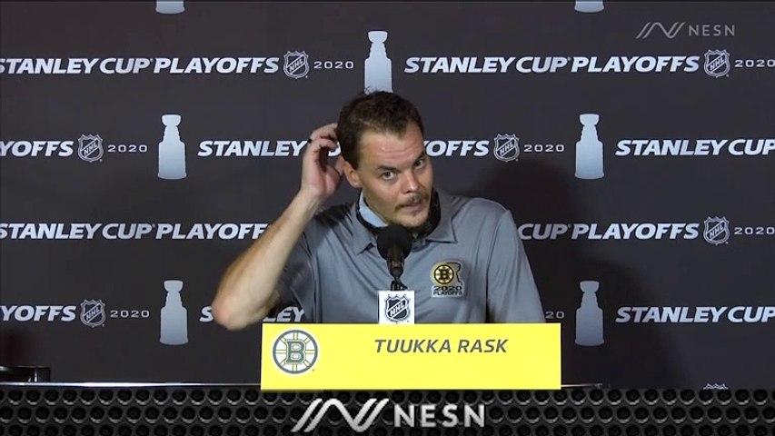 Bruins Goalie Tuukka Rask Reacts To Game 2 Loss To Hurricanes