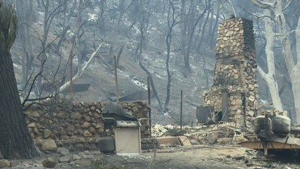 Homes and cars destroyed in massive wildfire