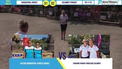 Finale du doublette COLOMBET/POINSOT vs ROUQUAYROL/BORIES : Palavas pétanque 2020