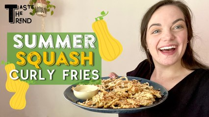 Summer Squash Curly Fries