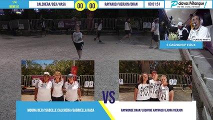 Quart de finale du triplette BEJI/CALCHERA/HASA vs DRAN/RAYNAUD/VIERJON : Palavas pétanque 2020