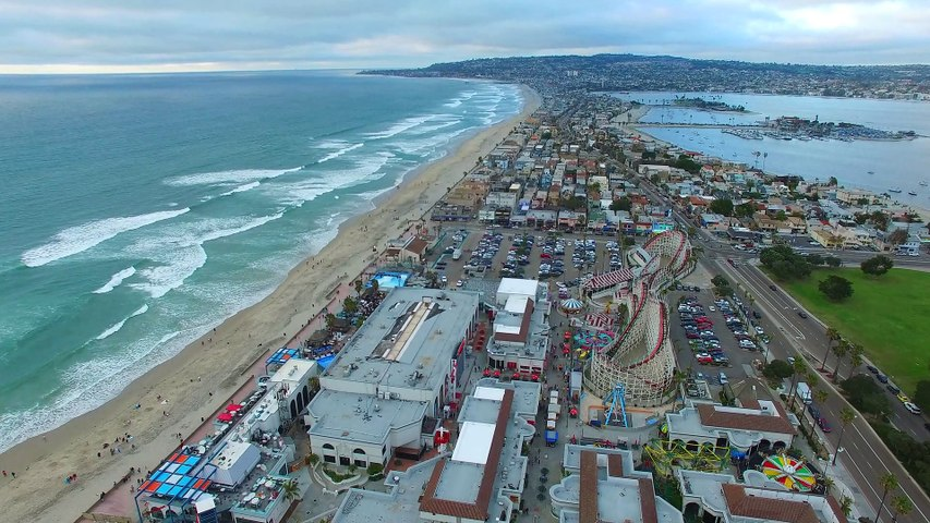 Beach Aerial Footage Taken by a Drone