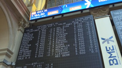 El Ibex 35 pierde los 7.200 puntos pero sube un 2,93 % en la semana