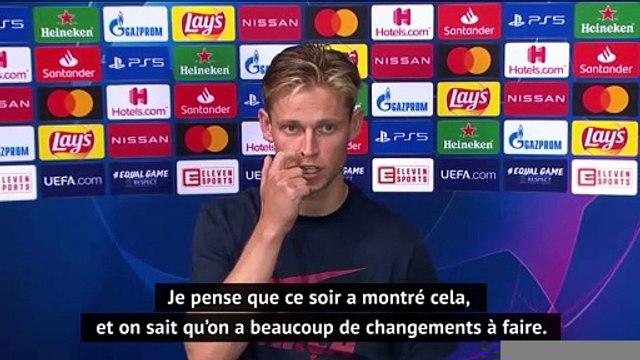 """Quarts - De Jong : """"On doit changer beaucoup de choses dans l'équipe"""""""