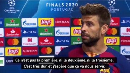 La réaction de Gérard Piqué après la lourde défaite du Barça face au Bayern !