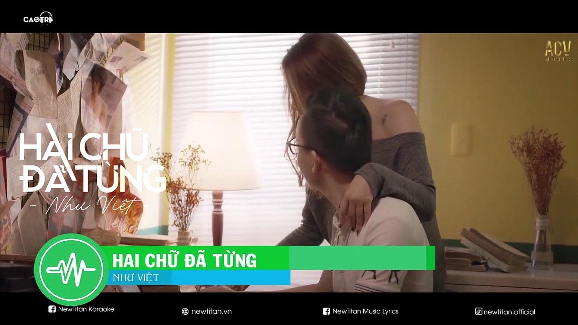 [Karaoke] Hai Chữ Đã Từng - Như Việt [Beat]