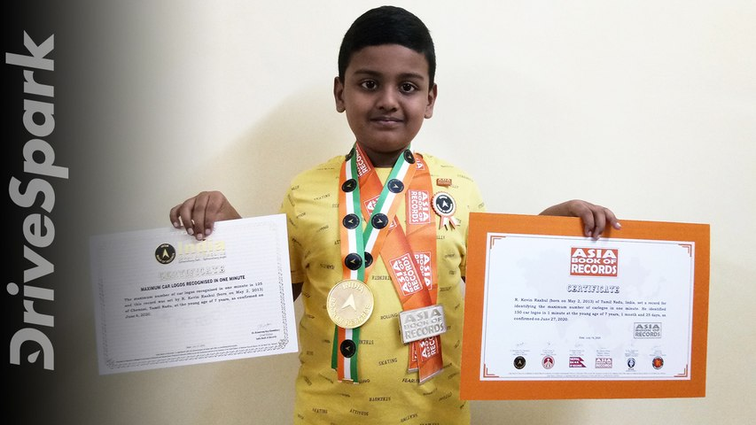World Record Holder For Identifying 150 Car Logos In 1 Minute   7-Year Old Kevin Raahul