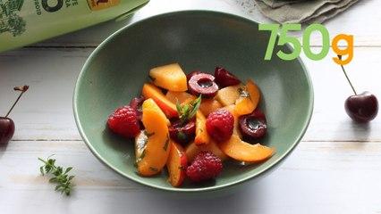 Recette de salade de fruits d'été à l'huile d'olive - 750g