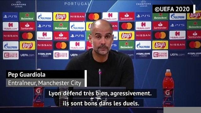 """Quarts - Guardiola : """"Lyon est un équipe extraordinaire"""""""