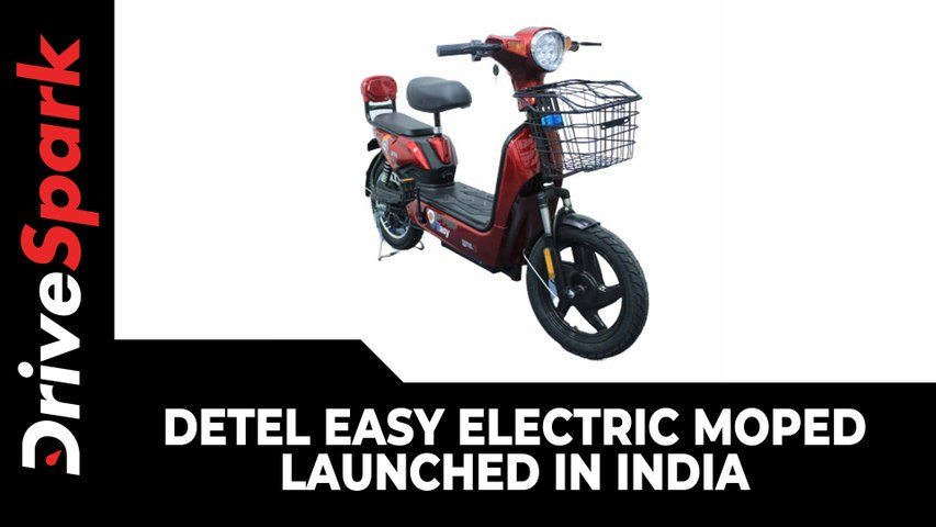 Detel Easy Electric Moped Launched In India Price, Range & Other Details