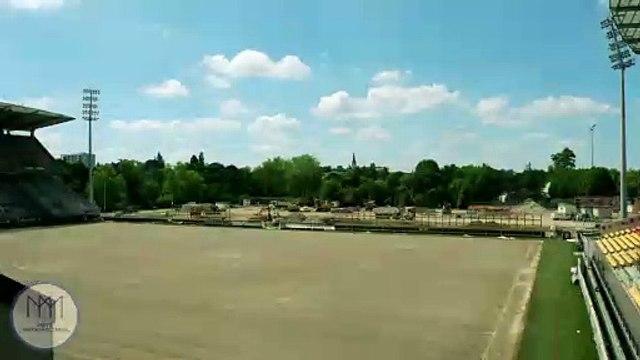 Stade Saint-Symphorien Metz : construction tribune sud (timelapse)