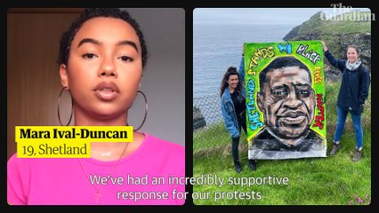 From Shetland to Monmouth: three young voices behind the UK's anti-racism protests – video