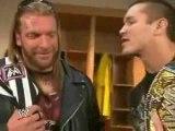 wwe raw 19/02/08 part 7 Triple H & Randy Orton Game Plan