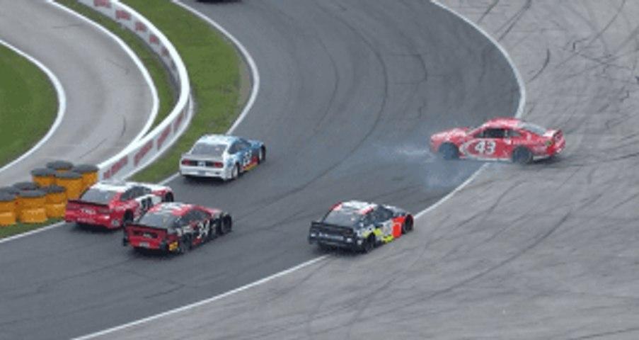 All angles: Bubba gets bumped on the last lap at Daytona