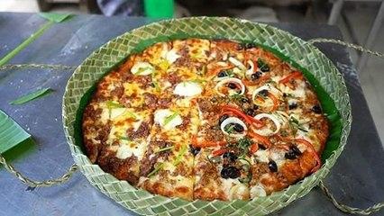 Hộp bánh pizza thủ công làm từ lá dứa | VTC