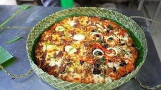Hộp bánh pizza thủ công làm từ lá dứa   VTC