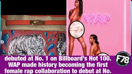 Cardi B surprises Megan Thee Stallion with a Birkin bag after their song 'WAP' debuts at No. 1 on Billboard  #CardiB #MeganTheeStallion #WAP