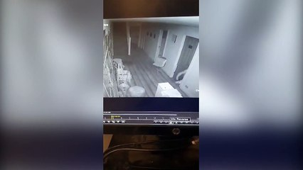 CCTV footage of break-in at beauty salon