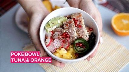 Perfecting the Poke Bowl: Tuna and Orange