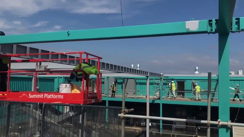 Construction and decoration nears completion at Stack Seaburn