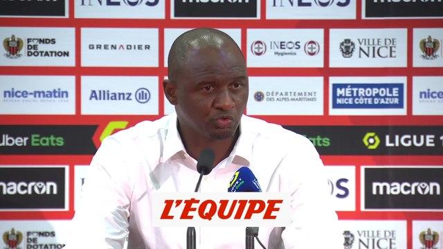 Vieira : «Une victoire heureuse» - Foot - L1 - Nice