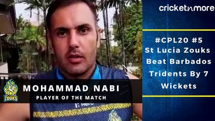 St Lucia Zouks All-Rounder Mohammad Nabi After Winning Player Of The Match Award