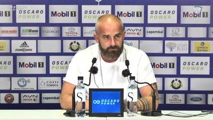 Red Star - SC Bastia : Conférence d'avant-match de M. Chabert