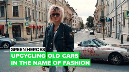 Green Heroes: From discarded car parts to ultimate fashion statement